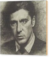 Michael Corleone Wood Print