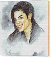 Michael Jackson - Smile Wood Print