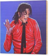 Michael Jackson 2 Wood Print by Paul Meijering