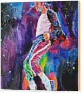 Michael Jackson Dance Wood Print