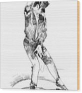Michael Jackson Dancer Wood Print by David Lloyd Glover