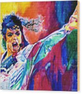 Michael Jackson Force Wood Print
