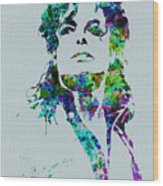 Michael Jackson Wood Print by Naxart Studio