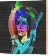 Michael Jackson Wood Print by Mo T