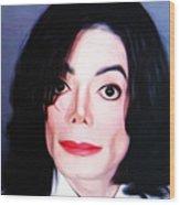 Michael Jackson Mugshot Wood Print