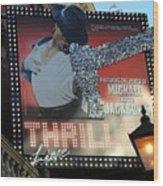 Michael Jackson Musical Wood Print