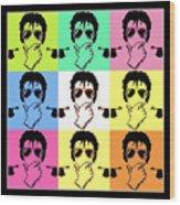 Michael Jackson Pop Wood Print by Paul Van Scott