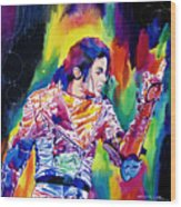 Michael Jackson Showstopper Wood Print by David Lloyd Glover