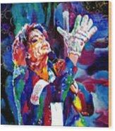 Michael Jackson Sings Wood Print