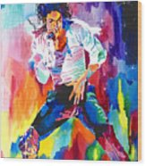 Michael Jackson Wind Wood Print by David Lloyd Glover