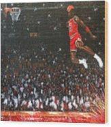Michael Jordan Custom Painting Wood Print