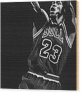 Michael Jordan Wood Print by Don Medina