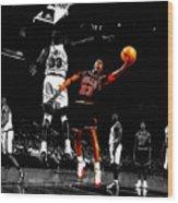 Michael Jordan Left Hand Wood Print