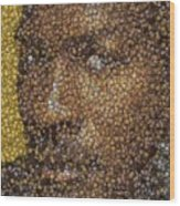 Michael Jordan Money Mosaic Wood Print