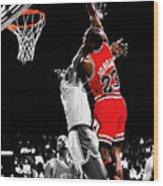 Michael Jordan Power Slam Wood Print