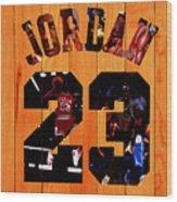 Michael Jordan Wood Art 1a Wood Print