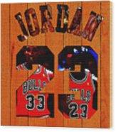 Michael Jordan Wood Art 1b Wood Print