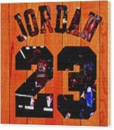 Michael Jordan Wood Art 1c Wood Print