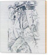Michael Smooth Criminal II Wood Print
