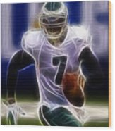 Michael Vick - Philadelphia Eagles Quarterback Wood Print