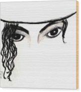 Michael's Eyes Wood Print