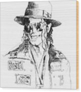 Michael's Jacket Wood Print