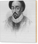 Michel Eyquem De Montaigne Wood Print by Granger