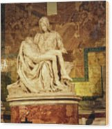 Michelangelo Masterpiece Of A Mother's Love Wood Print