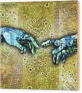 Michelangelo's Creation Of Man Wood Print