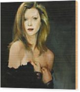Michelle Pfeiffer Wood Print by Tigran Ghulyan