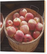Michigan Apples Wood Print