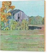 Michigan Autumn Barn Wood Print