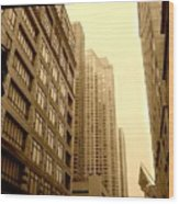 Michigan Ave. Wood Print