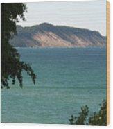 Michigan Bluff Wood Print