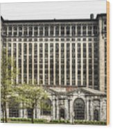 Michigan Central Station Detroit Wood Print