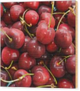 Michigan Cherries Wood Print
