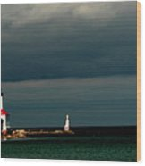 Michigan City Lighthouse By Earl's Photography Wood Print