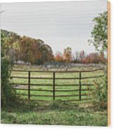 Michigan Farm And Fence  Wood Print