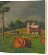 Michigan Farm Wood Print