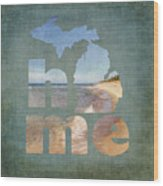 Michigan Home Wood Print