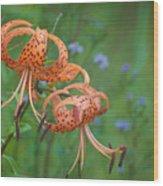 Michigan Lilly Wood Print