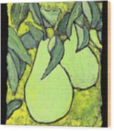 Michigan Pears Wood Print