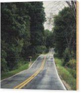 Michigan Rural Roadway In September Wood Print