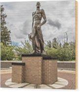 Michigan State - The Spartan Statue Wood Print