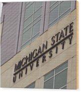 Michigan State University Signage 02 Wood Print
