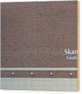 Michigan State University Skandalaris Football Center Signage Wood Print