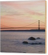 Michigan's Mackinac Bridge Wood Print