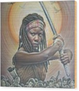 Michonne Wood Print