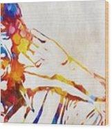 Mick Jagger Abstract Wood Print