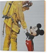 Mickey And The Bravest Wood Print
